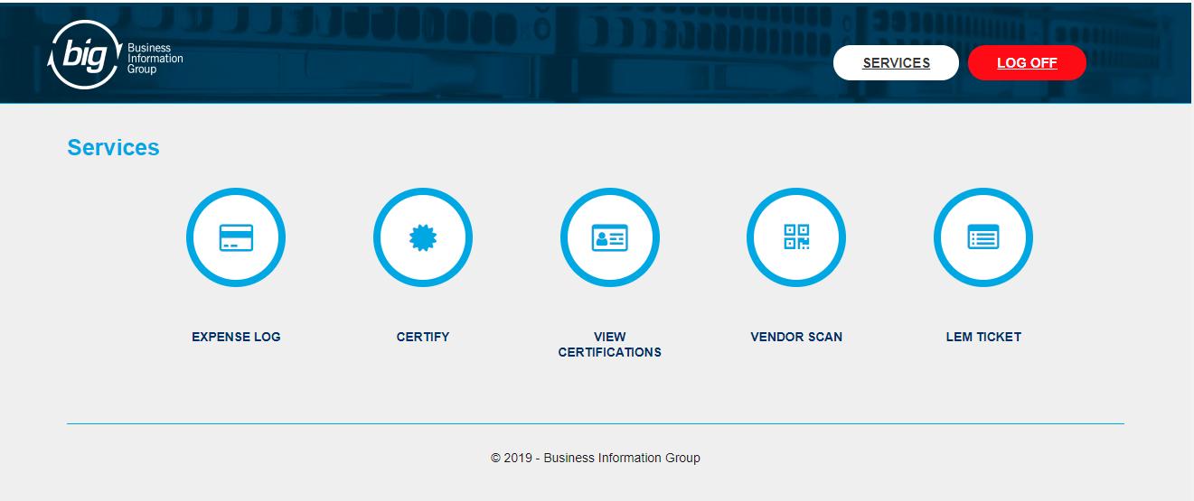 web portal menu